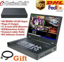DHL DeviceWell HDS9125 5-Channel 4*HDMI+1*DP inputs HDMI Stream Video Switcher