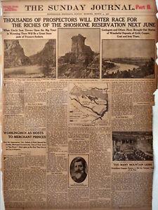 1906 Vintage Newspaper Shoshone Reservation Will Open for Prospectors Wind River