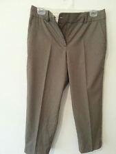 Ann Taylor Signature Dress Pant Women Fit Gray Cropped Capri 6P Petites