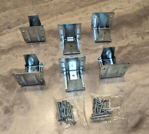 """6 NEW METAL BRACKETS HOLDERS AND SCREWS FOR 2"""" WINDOW MINI BLINDS - 3 Sets - NEW"""