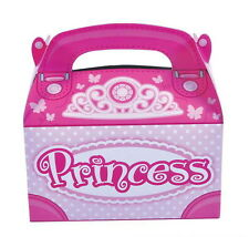 12 PINK PRINCESS PARTY TREAT BOXES FAVORS GOODY BAG  PRIZE GIFT CARNIVAL TOYS