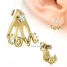 Earring Cuff Piercing Trident Triple Love Cuff