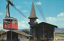 Aerial Tram & Loading Station Jackson Hole Wyoming, Tetons, Ski Cabin - Postcard