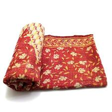 Vintage Kantha Quilt Indian Handmade Cotton Bedspread Coverlet Bedding Blanket