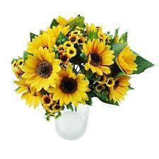 Artificial Silk Flower Fake Sunflower Bouquet Home Floral 7 Heads Beauty Decor