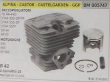 CILINDRO PISTONE COMPLETO MOTOSEGA ALPINA CASTOR CASTELGARDEN 450 460 SP460 D.42