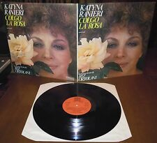 LP KATYNA RANIERI Colgo la rosa (Cetra 77) Italian folk Riz Ortolani RARE EX!