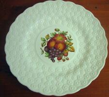 #3 Copeland Spode Luncheon Plate Ring Fruit Bouquet Embossed Daisies England