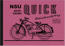 NSU Quick 1951 98 ccm Bedienungsanleitung Betriebsanleitung Handbuch User Manual