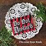 DO NOT DISTURB * Mini Door Knob Bedroom Office Ornament Cubicle RED ROOM USA New
