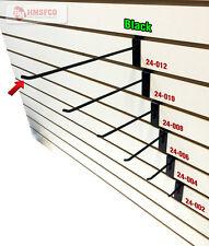 """12"""" Slatwall Metal Hooks (24-012BL) - 100 Piece - Black (NEW)"""
