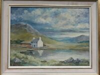Original Framed Oil Painting Wales Welsh Farm, Landscape, signed A.R. KUSEL