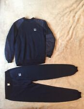 Vintage HELLY HANSEN 90's Fleece Lined Set Cardigan + Trousers