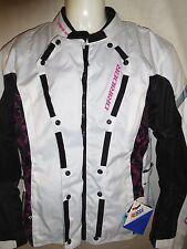 DriRider Vivid Crystal White Pink Motorcycle Jacket 4XL / 22 NWT - RJays Draggin
