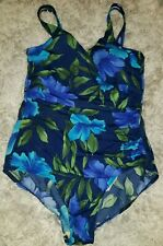 Shape Solver Women's Swimming Suit Size 16 Flowery