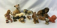 Lot Collection of 14 Ceramic Lion Figures Figurines