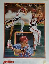 1981 Philadelphia Phillies Milestone signed print Pete Rose Mike Schmidt Carlton
