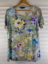MAGGIE T sz 14 (or 0 ) womens Floral print top [#226]