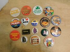 Lot of 18 McDonalds Employee Promo Pinback
