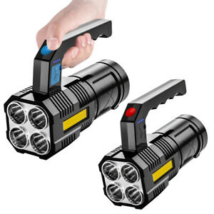 Powerful LED Flashlight Tactical Torch 18650 Battery USB Rechargeable Waterproof