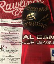 Ronald Acuna Jr. Signed Black Baseball JSA Witness COA autograph