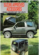 Suzuki Vitara 2-Seater Soft Top Utility Accessories 1989-90 UK Leaflet Brochure
