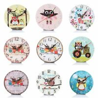 Wooden Wall Clocks Owl Silent Living Room Kids Bedroom Home Art Decoration Watch