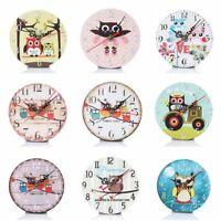 Wooden Wall Clocks Owl Silent Living Room Kids Bedroom Home Art Decoration Watch