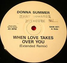 """Donna Summer When Love Takes Over You Ext.Mix 12""""PROMO Inst/Bad Reputation VINYL"""