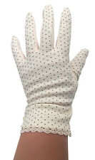 ladies Anti-Slip Cotton Driving Everyday Gloves vintage Lace Injury wounded Hand