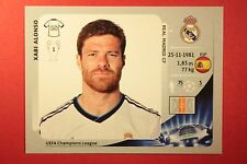 PANINI CHAMPIONS LEAGUE 2012/13 N. 236 X. ALONSO REAL MADRID BLACK BACK MINT!