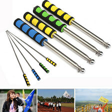 1.2M Flag Pole Portable Telescopic Flag Handheld Pole Tool for Flags Windsock WB