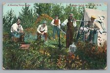 Tobique Gulch Hunting Party PERTH New Brunswick—Rare Antique Postcard 1910s