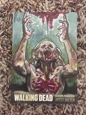 Cryptozoic The Walking Dead Season 3 Artist hand-Drawn Color Sketch Card  1/1