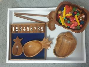 Educational Wooden Sorting Set, Montessori, Numeracy, play based resources