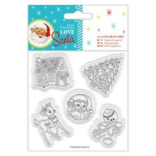 Docrafts Papermania LOVE Babbo Natale Babbo Natale Albero Ginger Bread Rubber Stamps