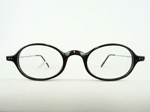 Black Extraleichte Glasses Frame Small Round/ Oval Form Vintage SIZE S