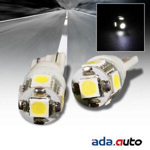 2 X 5-SMD LED 168/194/W5W/T10 LED REAR LICENSE PLATE LIGHT/CITY/SIDE MARKER