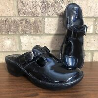 BOC Born Concept KALIMA Mules/Clogs Black Patent Faux Leather Shoes Women's 9