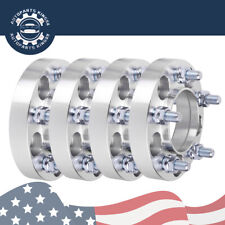 "(4) 1"" inch 5x4.5 to 5x4.5 Wheel Spacers 25mm 1/2"" x 20 Studs For Ford Mustang"