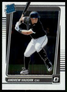 2021 DONRUSS OPTIC ANDREW VAUGHN CHICAGO WHITE SOX RATED ROOKIE