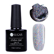 UR SUGAR 7.5ml Soak Off UV Gel Polish Magnetic Nude Holographic Nail Art Varnish