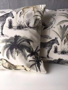 "Beautiful African Animal Print Cushion Cover 16"" X 16"""