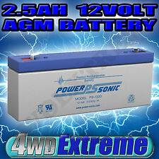 MINATURE BATTERY 2.5AH 2.5 AMP HOUR AGM SLA 12 VOLT 12V PS1220 POWERSONIC SMALL