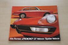 182256) Alfa Romeo 2000 GT Veloce Spider Veloce rospekt 02/1973