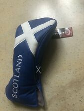 Scotland Deluxe Leatherette Golf Driver Wood Headcover