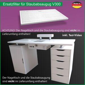 Nagel Studio / Standardfilter für Nageltisch mit Profi-Staubabsaugung V300