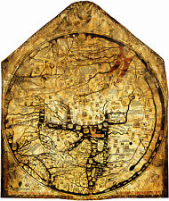 1300 Hereford Mappa Mundi World Map Medieval Vintage History Wall Art Poster