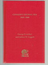 CANADA'S DECIMAL ERA hcndj Arfken & Leggett 1859-1868 free shipping N. America