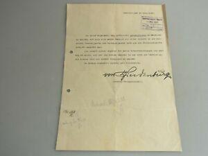 Urkunde Hannover 1922 Autograph Hindenburg General-Feldmarschall K3198